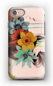 Blomsterkrans deksel IPhone 7 tough