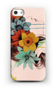 Femme en fleur Coque  IPhone 5/5S