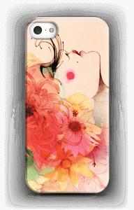 Pige med lange øjnevipper cover IPhone 5/5S
