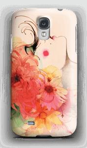 Jente med lange øyevipper deksel Galaxy S4