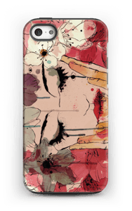 Girl & flowers case IPhone 5/5s tough