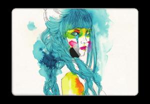 Girl in blue  Skin MacBook Pro Touch Bar 15