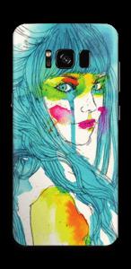 Girl in Blue Skin Galaxy S8