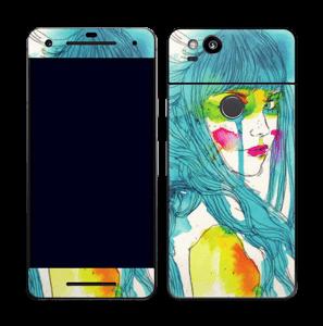 La Chica de Azul Vinilo  Pixel 2