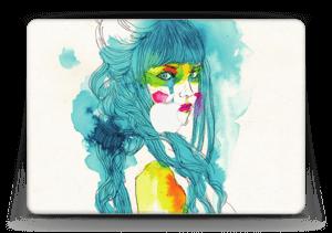 Girl in blue  Skin MacBook Air 13