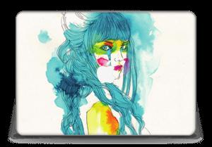 "Girl in Blue Skin MacBook Pro Retina 15"" 2015"