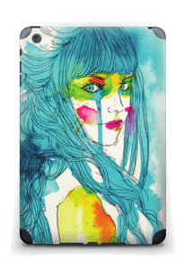 Girl in blue  Skin IPad mini 2 back