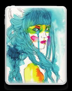 Girl in blue  Skin IPad 1