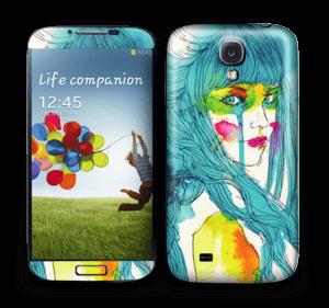Girl in blue  Skin Galaxy S4