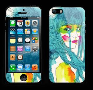 Girl in blue  Skin IPhone 5s