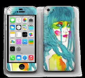 Girl in blue  Skin IPhone 5c