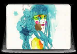 Girl in blue  Skin MacBook 12
