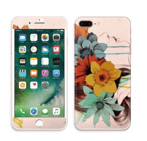 Corona de Flores Vinilo  IPhone 7 Plus