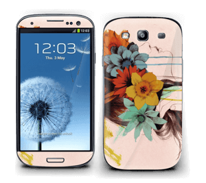 Blomsterkrans Skin Galaxy S3
