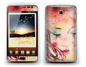 Blushing girl  Skin Galaxy Note
