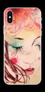 Blomster og sommerfugl Skin IPhone XS