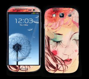 Blomster og sommerfugl Skin Galaxy S3