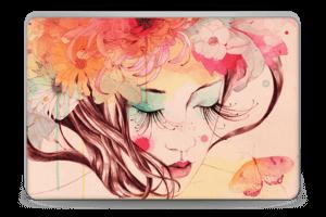 Blomster og sommerfugl Skin Laptop 15.6