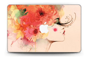 Girl in profile  Skin MacBook Air 11