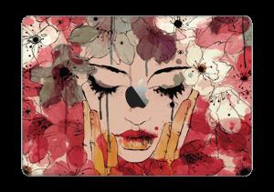 """Blomster i röda toner Skin MacBook Pro 13"""" 2016-"""