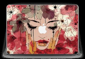 "Blumen in roten Tönen Skin MacBook Pro Retina 13"" 2015"
