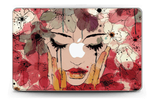 Girl & flowers  Skin MacBook Air 11