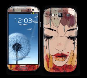 Blomster i røde nuancer Skin Galaxy S3