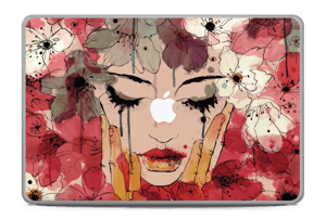 Girl & flowers  Skin MacBook Pro 17