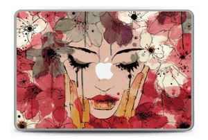 Girl & flowers  Skin MacBook Pro 15