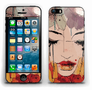 Girl & flowers  Skin IPhone 5s