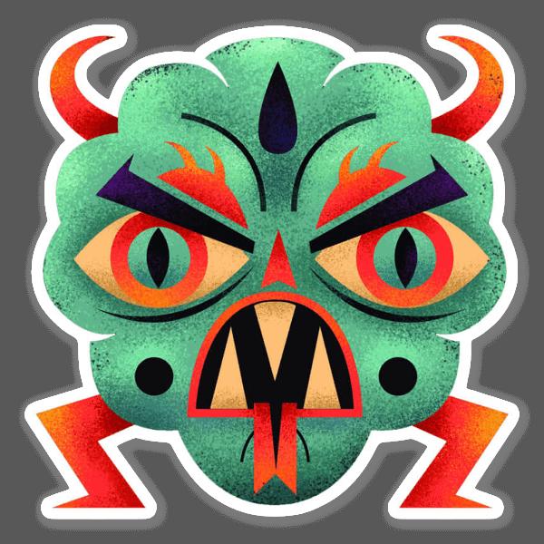 Evil Cloud  sticker