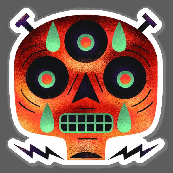 Zombi-zombi  sticker