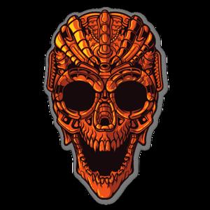 Mecha Skull sticker
