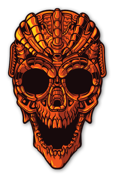 Mecha Skull sticker
