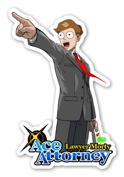 ACE AT LAW... KINDA  sticker