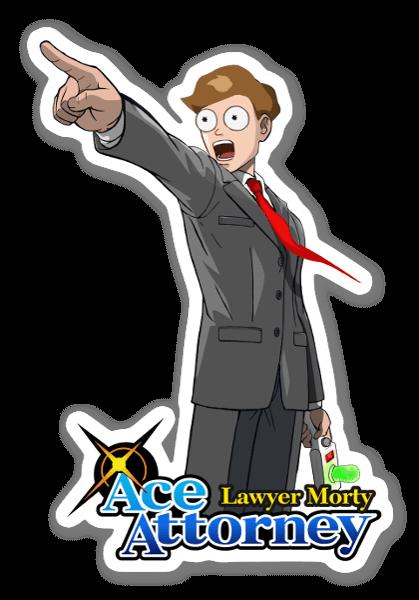 Ace Morty  sticker