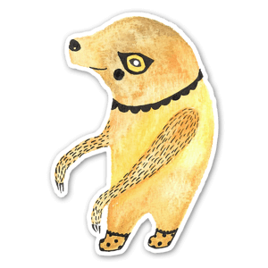 Yellow Fellow sticker
