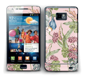 Parrot & flowers Skin Galaxy S2