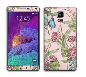 Nature & Perroquet  Skin Galaxy Note 4
