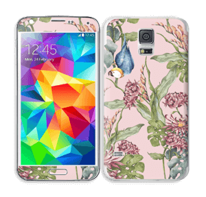 Nature & Perroquet  Skin Galaxy S5