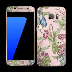 Nature & Perroquet  Skin Galaxy S7
