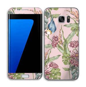 Parrot & flowers Skin Galaxy S7 Edge
