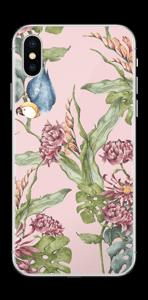 Nature & Perroquet  Skin IPhone XS