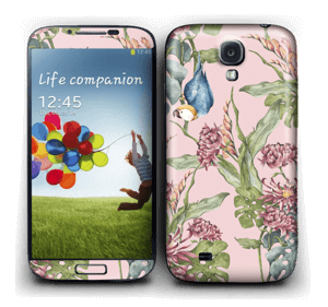 Parrot & flowers Skin Galaxy S4