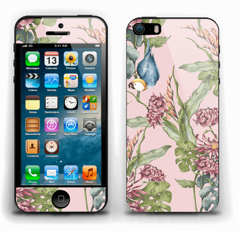 Nature & parrot Skin IPhone 5s