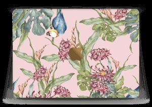 """Parrot & flowers Skin MacBook 12"""""""