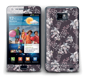 Purple & flowers  Skin Galaxy S2