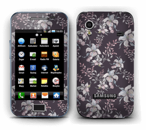 Purple & flowers  Skin Galaxy Ace