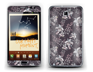 Purple & flowers  Skin Galaxy Note