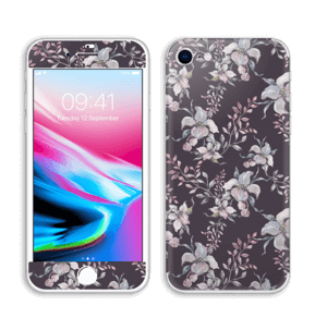 Lilla blomster Skin IPhone 8